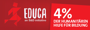 Zur Zeit werden nur 1,95% der Humanitären Hilfe in Bildung ausgegeben. Dies muss sich verbessern, denn Bildung spielt eine Schlüsselrolle in Konfliktregionen. Kinder in Konfliktregionen brauchen einen Zugang zur Bildung, damit keine verlorene Generation heranwächst. Die Initiative EDUCA der Europäischen Sozialisten und Demokraten ruft dazu auf, dass seitens der EU insgesamt 4% der Humanitären Hilfe in Bildung gehen.