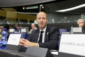MEP Arne LIETZ takes part in a S&D group meeting